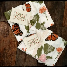 June & December Monarchs & Milkweeds Kitchen Towel