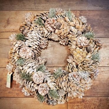 Pine Cone Wreath, Large